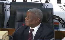 A screengrab of former Eskom board member, Zethembe Khoza, testifying at the state capture commission on 9 December 2020. Picture: SABC Digital News/YouTube