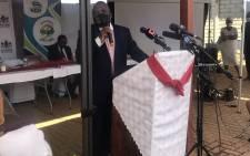 Deputy Health Minister Joe Phaahla on 12 May 2020 attended International Nurses Day celebrations at the Sebokeng Zone 17 clinic. Picture: Kgomotso Modise/EWN