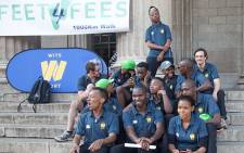 The students participating in the Feet4Fees campaign. Picture: Kgothatso Mogale/EWN