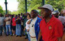 Prasa workers affiliated with the National Transport Movement and South African Federation of Trade Unions demonstrated at the company's head office on 1 March 2018. Picture: @SAFTU_media/Twitter