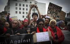 Women in Cape Town marched from Keizergracht to Parliament as part of the #TotalShutDown on 1 August 2018. Picture: Cindy Archillies/EWN
