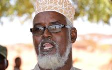 FILE: Ahmed Mohamed Madobe, leader of the Ras Kamboni militia, speaks during a meeting for the creation of a State of Jubaland in Kismayo on 28 February 2013. Picture: AFP.