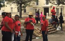 Staff members, affiliated to union Nehawu, at Rhodes University have joined the anti-rape protest. PIcture: Govan Whittles/EWN