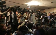 Journalists at a press conference. Picture: Taurai Maduna/Eyewitness News