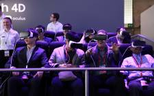 Virtual Reality at the MWC.  Picture: MWC