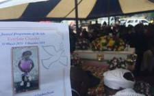 Three-year-old Everlate Chauke was laid to rest at Waterfall Cemetery on 07 December 2016. Picture: Victor Magwedze.