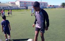 Uzair Rogers (14) of Manenberg is hoping to play in a football tournament in Namibia. Picture: Supplied