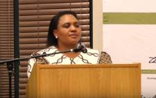 ANC mayoral candidate for Tshwane, Thoko Didiza. Picture: YoutTube screengrab.