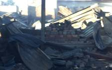 One person was killed in a fire in Vrededorp on 23 July 2021. Picture: @RobertMulaudzi/Twitter