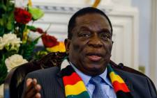 President Emmerson Mnangagwa. Picture: AFP