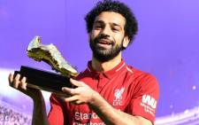 The 25-year-old Egyptian, Mohamed Salah, struck in the 26th minute, tucking away a left-foot strike to give his side the lead and become the first player to score 32 goals in a 38-game Premier League season. Picture: Twitter
