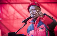 EFF leader Julius Malema addressed party supporters at the Peter Mokaba stadium in Polokwane on 31 July 2016. Picture: Thomas Holder/EWN.