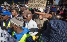 FILE: Security personnel marched from Church Square in Tshwane to the Tshwane House to demand the city's Mayor Solly Msimanga to stop outsourcing to security firms. Picture: Thomas Holder/EWN
