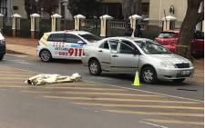 The scene of a shooting in Hatfield, Johannesburg. Picture: Barry Bateman/EWN