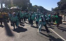 The Cape Town minstrels arriving at the stadium ahead of the ANC 103 birthday celebration on 10 January 2015. Picture: Rahima Essop/EWN.
