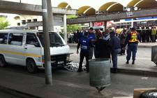 A 59-year-old taxi operator was shot dead at the Bellville Taxi Rank on 13 September 2012. Picture: Malungelo Booi/EWN
