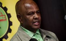 FILE: Amcu president Joseph Mathunjwa at a press briefing on 13 August 2019. Picture: Kayleen Morgan/EWN