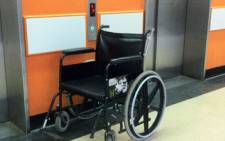 An abandoned wheelchair at a state hospital. Picture: Gia Nicolaides/EWN