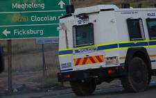 Police outside Ficksburg in 2011.