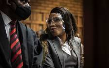 Norma Gigaba, wife of Former Finance Minister Malusi Gigaba at Pretoria Magistrates Court on 14 September 2020. Picture: Abigail Javier/EWN