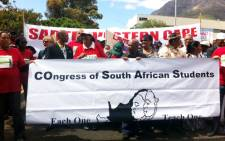 Unions marched in Cape Town over the looming closure of 27 schools in the Western Cape and other Education issues. Picture: Rahima Essop/EWN.