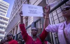 FILE: Striking parliamentary workers continued their demonstrations on Wednesday 25 November 2015 after disrupting a National Assembly sitting the previous day. Picture: Aletta Harrison/EWN