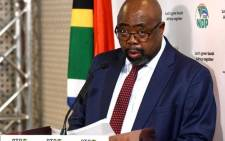 FILE: Labour and Employment Minister Thulas Nxesi addresses a media briefing in Pretoria on level 3 lockdown regulations on 29 May 2020. Picture: @GCISMedia/Twitter.