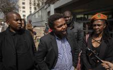 BLF leader Andile Mngxitama outside the Johannesburg Magistrates Court on 21 August 2019. Picture: Abigail Javier/EWN