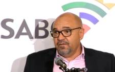 A YouTube screengrab of former acting SABC chief operating officer Dr Craig van Rooyen.