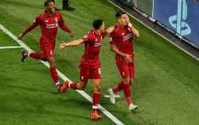 Liverpool's Roberto Firmino celebrates a goal in the UEFA Champions League match against PSG at Anfield on 19 September 2018. Picture: @LFC/Twitter