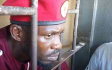 Pop-singer-turned-MP Bobi Wine was arrested on Monday over a protest he organised in 2018. Picture: @HEBobiwine/Twitter.