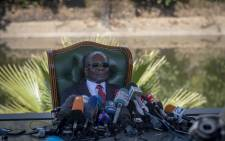 Robert Mugabe addresses members of the press at his home Blue House in Harare, Zimbabwe, a day before the polls. Picture: Thomas Holder/EWN