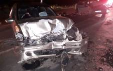 FILE: The remains of one of the vehicles that were involved in an accident that claimed the lives of three people in the Protea Glen. Picture: ER24.