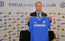 Chelsea's new manager Jose Mourinho during the press conference after signing four-year deal 10 June 2013. Picture : AFP