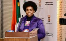 Minister in the Presidency for Women, Youth and Persons with Disabilities Maite Nkoana-Mashabane. Picture: @maite_nkoana/Twitter