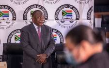 President Cyril Ramaphosa at the state capture inquiry on 29 April 2021 in Braamfontein, Johannesburg. Picture: Abigail Javier/Eyewitness News