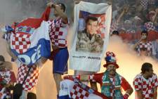 Croatian fans celebrate at the Euro 2012. Picture: Odd Andersen/AFP