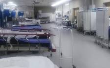 Africa's biggest hospital, Chris Hani Baragwanath in Soweto, posted pictures on its Facebook page this morning of a near-empty trauma unit. Picture: Facebook.