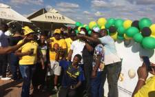 Gauteng ANC members and supporters relax at the Busy Corner Imbizo Shisanyama in Ivory Park, in Midrand, after campaigning. Picture: Carien du Plessis/EWN.