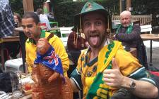 Australians are in a positive mood following their team's good showing thus far in the Rugby World Cup. Picture: Vumani Mkhize/EWN.