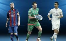 Lionel Messi, Gianluigi Buffon and Cristiano Ronaldo have been nominated for the Uefa's Player of the Year award. Picture: Twitter/@ChampionsLeague.