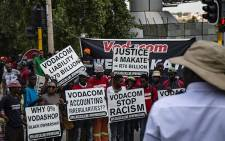 A group of supporters at Vodaworld in support of Nkosana Makate, who came up with the 'Please call me' idea. Picture: Kayleen Morgan/EWN
