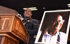 The deputy chairperson of the ANC in Gauteng, Panyaza Lesufi, addresses mourners at the funeral of anti-apartheid stalwart Andrew Mlangeni on 29 July 2020 in Soweto. Picture: GCIS.