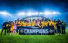 Kaizer Chiefs players celebrate winning the Carling Black Label Cup on 1 August 2021. Picture: @KaizerChiefs/Twitter