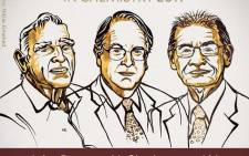 An illustration of 2019 Nobel Chemistry Prize winners John Goodenough of the US, Britain's Stanley Whittingham and Japan's Akira Yoshino. Picture: @NobelPrize/Twitter.