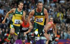 Oscar Pistorius in action for Team SA at the 2012 London Paralympics.