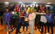 City of Cape Town mayor Dan Plato, centre, during the Bayhill Cup tournament draw. Picture: @CityofCT/Twitter.