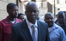Edward 'Tshidiso' Mokhoanatse arrives at the North Gauteng High Court in Pretoria on 2 September, 2015. Picture: AFP.