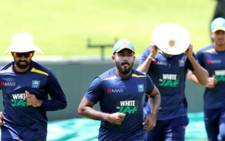 Sri Lanka training ahead of their second and final test against South Africa. Picture: Twitter @OfficialSLC