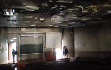 FILE: A lecture hall at Wits University was set alight allegedly by students who had been protesting over fees. Picture: Kgothatso Mogale/EWN.